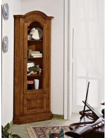 MOBILI 2G - Mobile Angolo in legno 2 porte arte povera tinta noce l.55 x 55 h.185