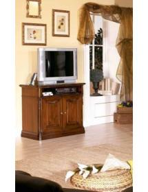 MOBILI 2G - PORTA TV IN LEGNO CON FREGI TINTA NOCE MISURA L.98 P.52 H.86
