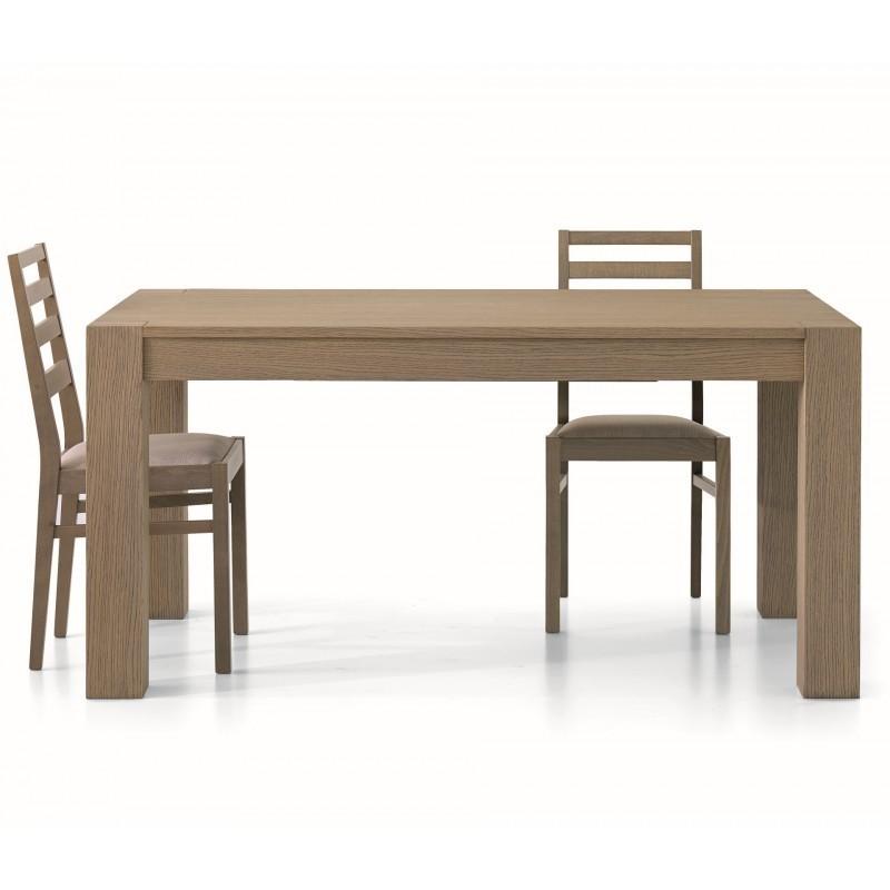 Tavolo rettangolare allungabile tinta rovere seppia 140 - Tavolo rettangolare allungabile ...