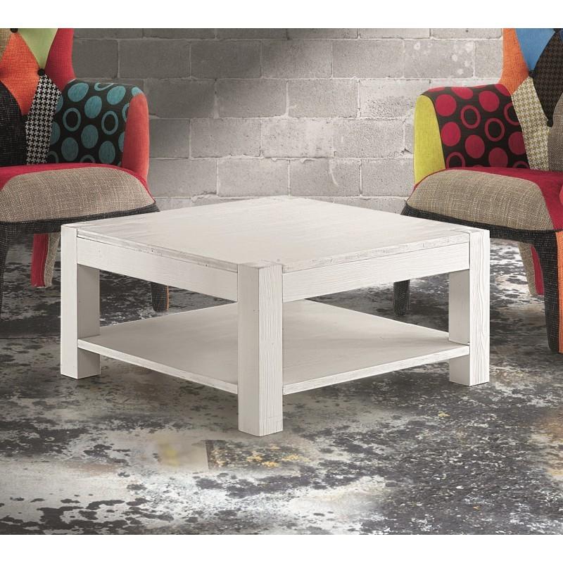 Tavolino Quadrato Salotto.Tavolino Quadrato In Abete Bianco Spazzolato