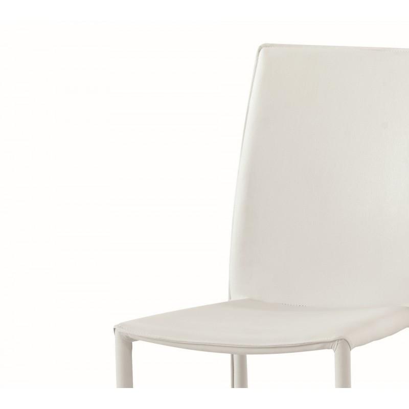 Sedia moderna imbottita interamente in ecopelle bianca for Sedia moderna bianca