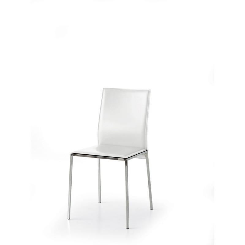 Sedie Moderne Ecopelle.Sedie Moderna Imbottita Ecopelle Bianca
