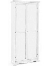 Armadio Portascope In Legno.Armadio Porta Scope 2ante Arte Povera Legno Massello Armadietto Mobile Classico Laccato Bianco