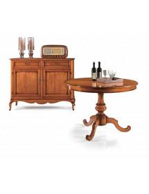 Credenza 3 ante napoletana arte povera in legno massello, cristalliera, mobile FINITURA  BASSANO