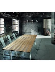 MOBILI2G -  - Specchiera girevole rettangolare in legno tinta noce  : Misure: L.57 x H.167 x P. 48