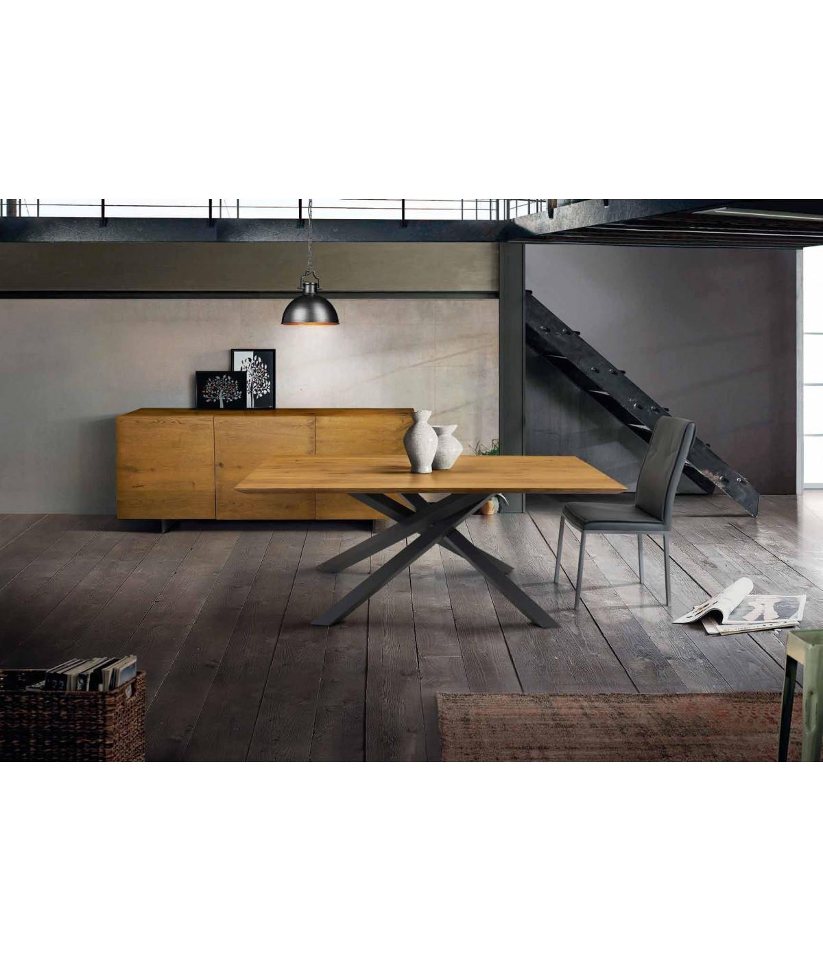 Tavolo Big Table Fisso In Rovere Massello Nodato Spessore 4 Cm Misura L 180 P 90 H 75